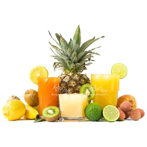 تصویر دوربری شده انواع میوه ها