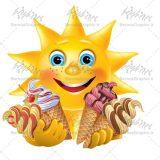 وکتور بستنی و آفتاب