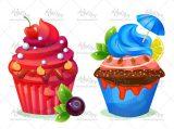 وکتور کیک میوه ای