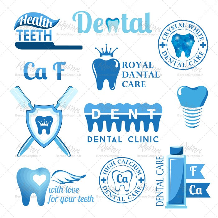 وکتور لوگو دندان پزشکی