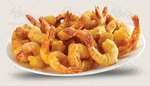 تصویر باکیفیت میگو سوخاری غذا های جنوب رستوران ساحلی